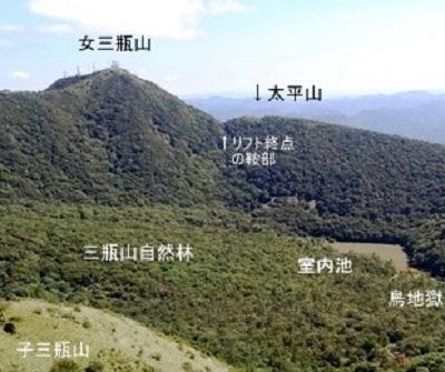 三瓶山 登山コース